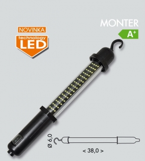 Montážna nabíjacia led lampa MONTER 60SMD LED/3,7W IP44